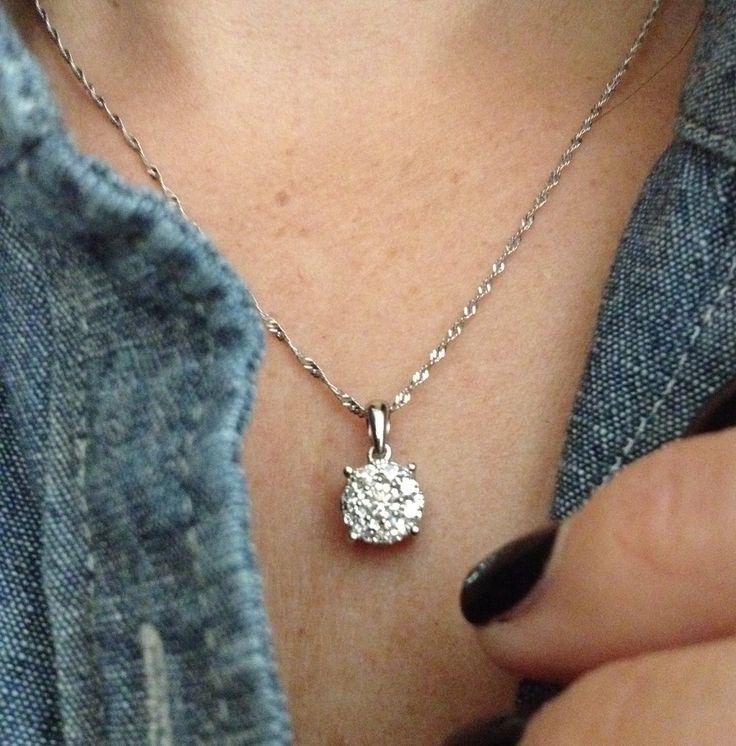 best 20 diamond solitaire necklace ideas on pinterest. Black Bedroom Furniture Sets. Home Design Ideas