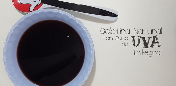 Gelatina Natural com Suco de Uva Integral