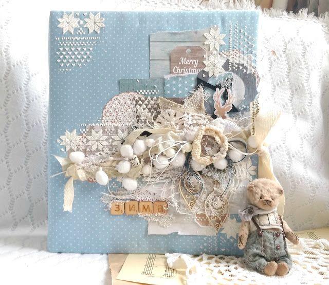 """Зимний альбом из коллекции Скрапмир """"Rustic winter"""" http://mkkandyy.blogspot.com/2015/11/83.html"""