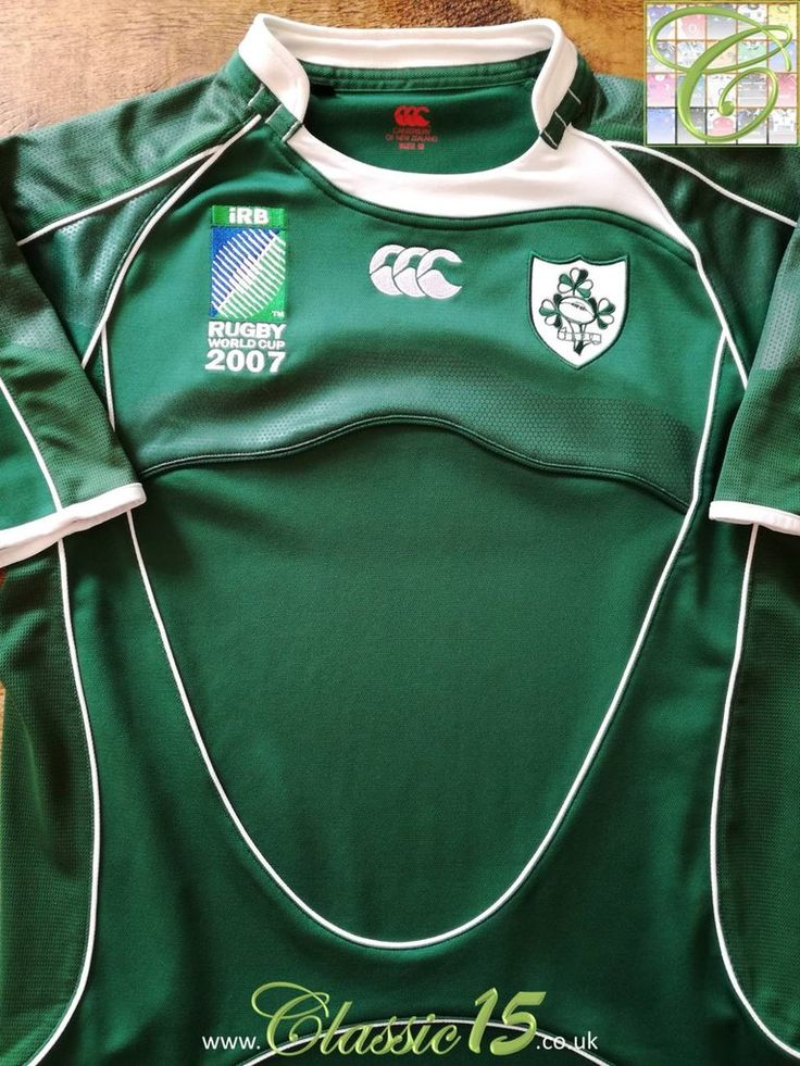 2007 Ireland Home World Cup Rugby Shirt (Y) #2007 #2008 #boy #home #ireland #pro #youth
