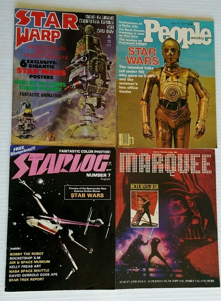 Lot Of Star Wars DVDs Different Triology 2005 Widescreen & 4 Vtg Magazines 77-83