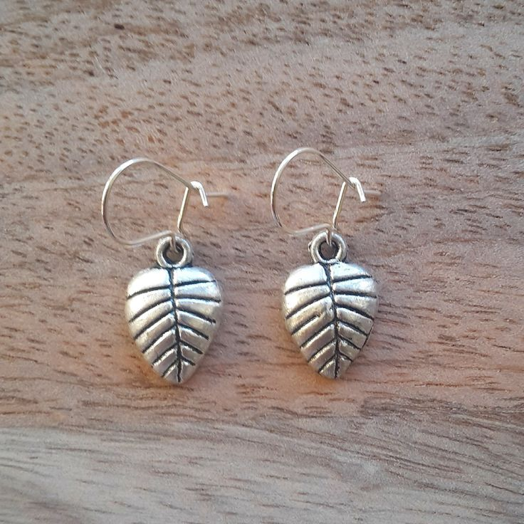 Leaf Charm Earrings by JdwCrafts on Etsy