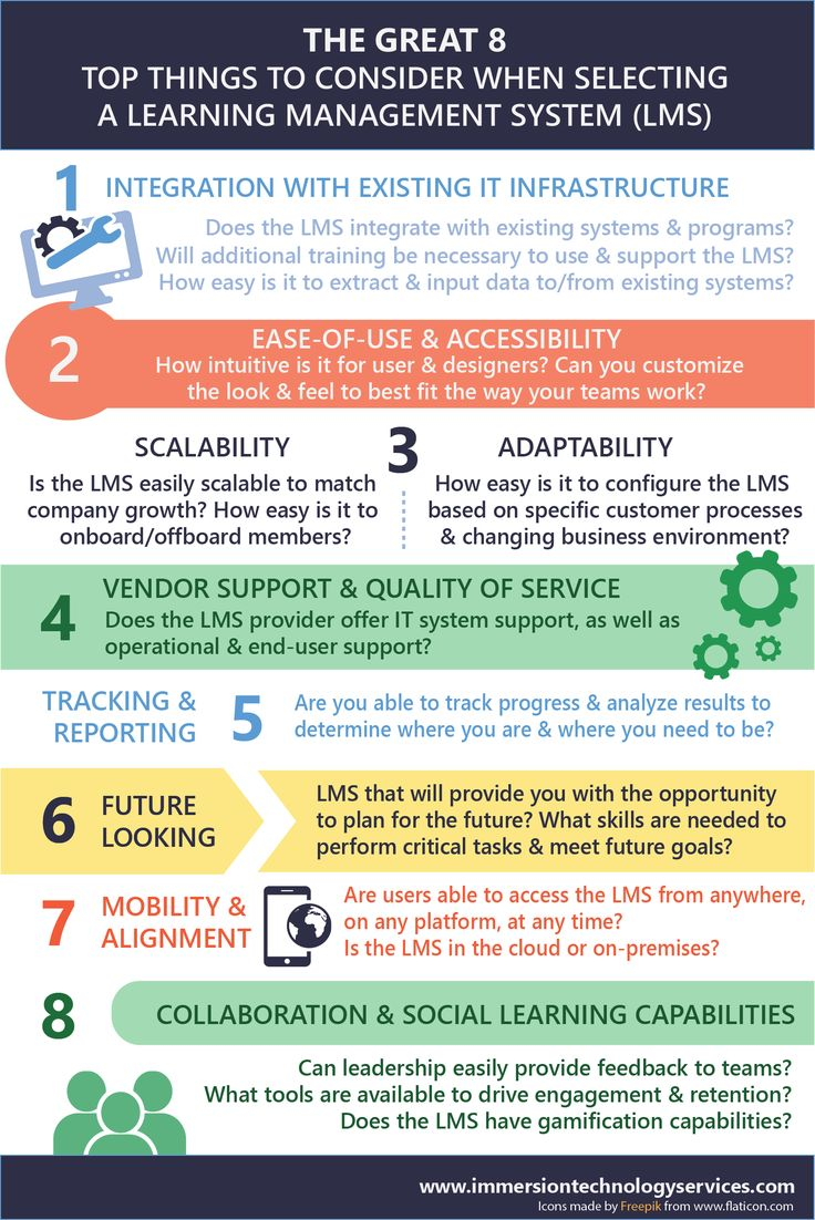8 Keys to choosing a new learning solution.  LMS is all about 'The Platform and Tools' to make it easy to use and accessible
