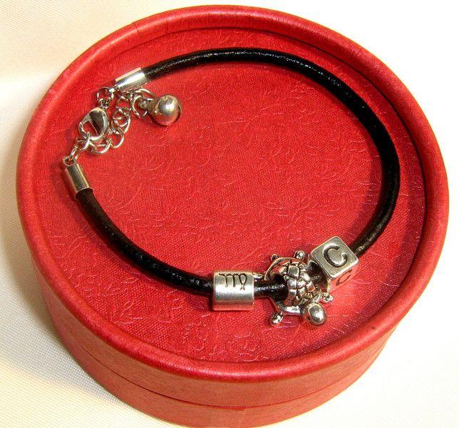 Mens Bracelets – Leather, Personalized,Protection Turtle BRACELET – a unique…