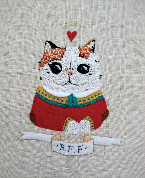 My Best Friend is a Cat and That's Ok  by catrabbitplush on Etsy, $210.00