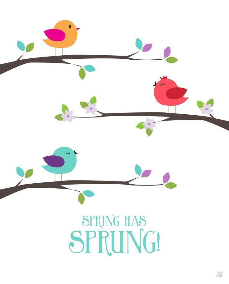 {free} printable Spring has sprung!