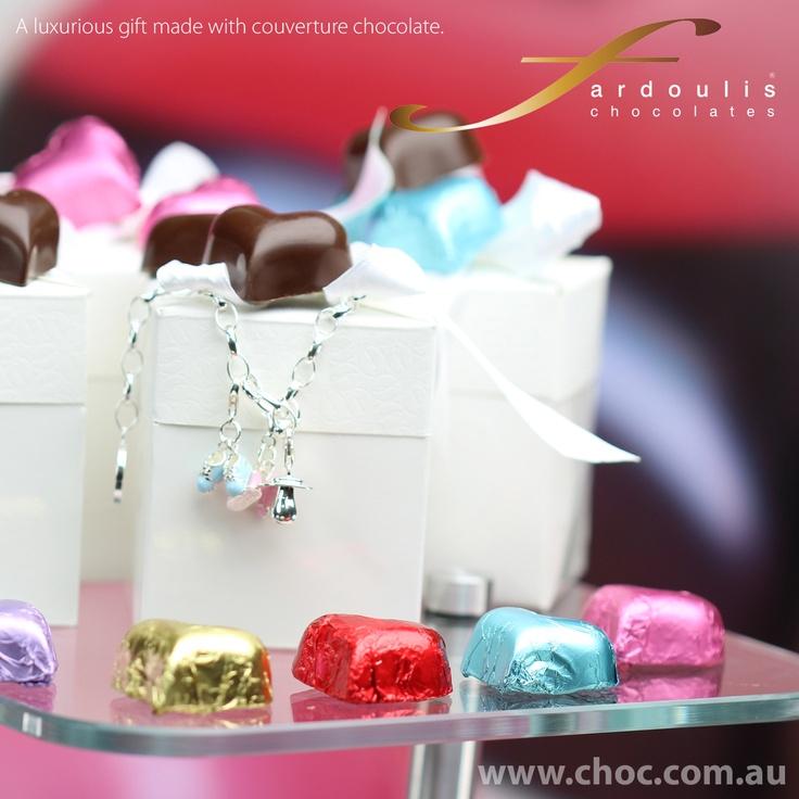 #Heart foiled chocolates  www.choc.com.au