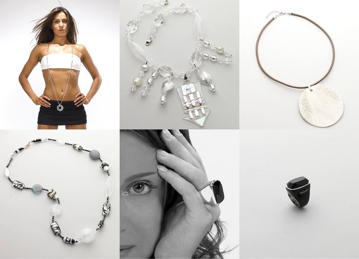 Black and white jewelry: art to wear.  http://www.artshoptuscany.com/heartisans/en/black-and-white-fashion-accessories/
