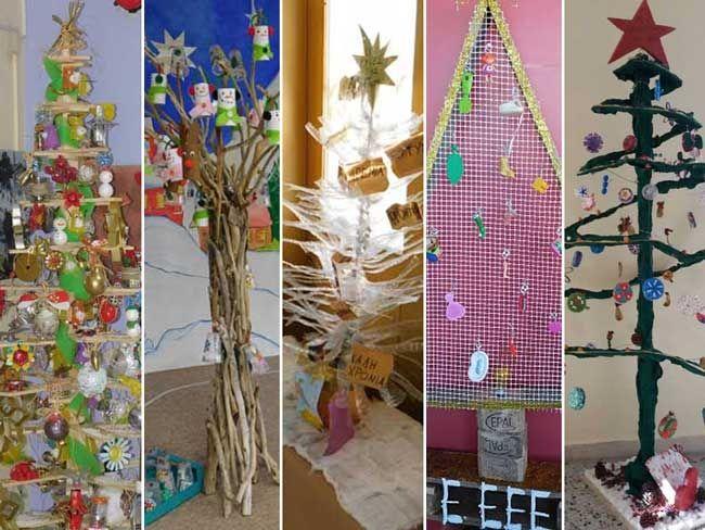 Πρέβεζα: Χριστουγεννιάτικα δέντρα από ανακυκλώσιμα υλικά στα σχολεία της Πρέβεζας