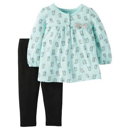 SHOP easy 2-piece sets. Novelty print tunic paired with stretchy leggings for an outfit she'll love.