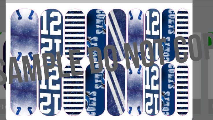 Indianapolis Colts Jamberry custom nail wraps get yours jamfabjuliana@yahoo.com Facebook.com/jamfabjuliana http:// jamfabjuliana.jamberrynails.net