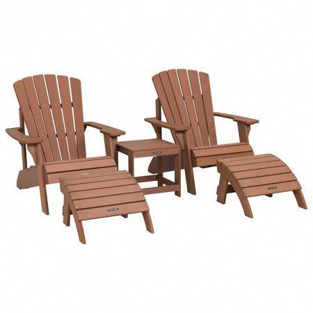 Five Piece Lifetime Adirondack Chair Set Adirondackchairs