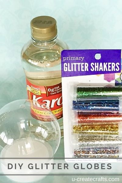 DIY Sensory Glitter Globes