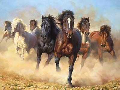 Thunder and Dust - Bonnie Marris - World-Wide-Art.com - $1150.00