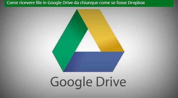 Come ricevere file in Google Drive da chiunque come se fosse Dropbox | Bartolo Illiano