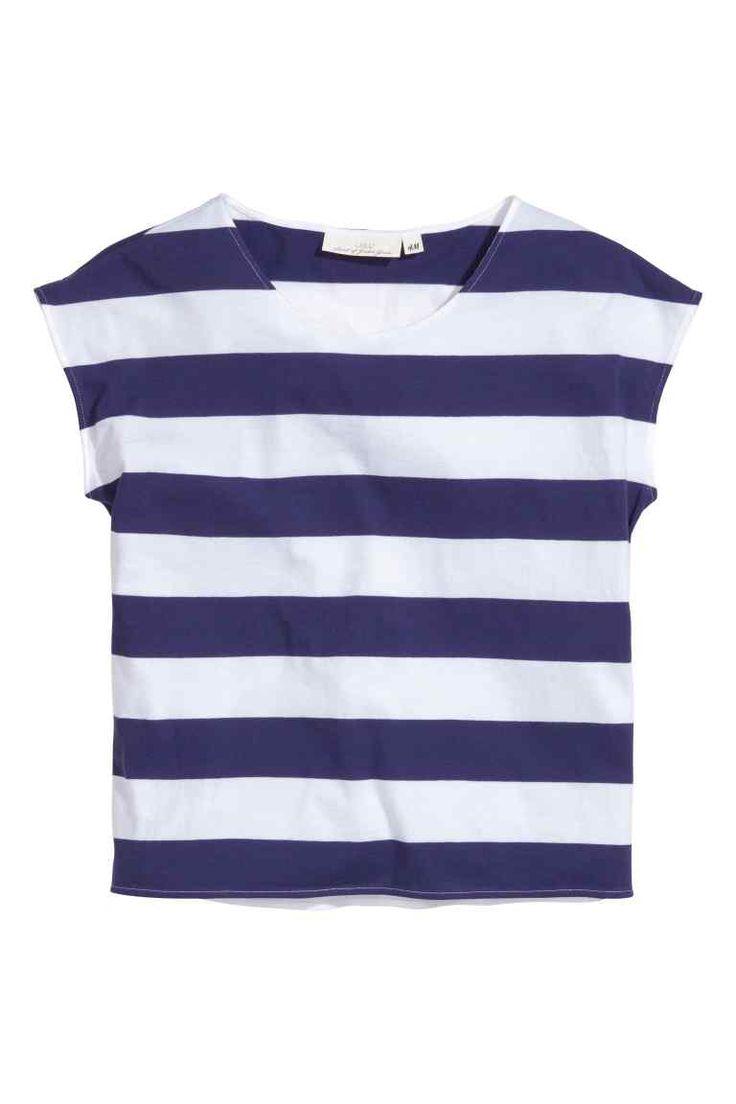 Block-striped T-shirt | H&M