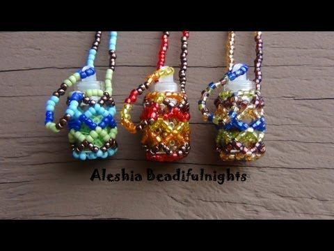 Beaded Bottle Necklace Tutorial - YouTube Tutorial has been disabled, but this doesn't look too difficult.