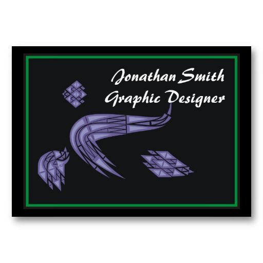 Graphic Designer Abstract Green Pattern Business Card Template #businesscards