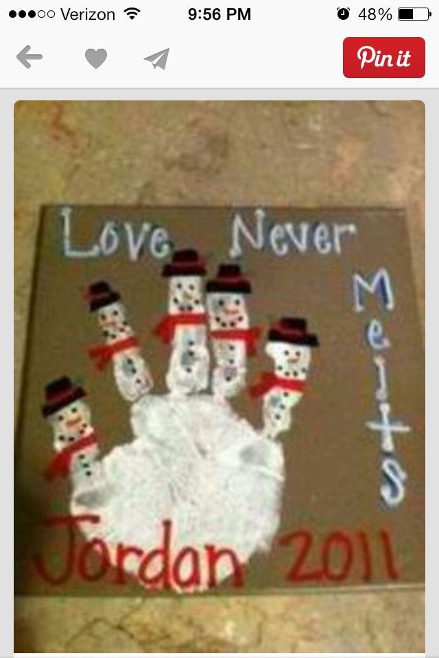 Snowman family craft