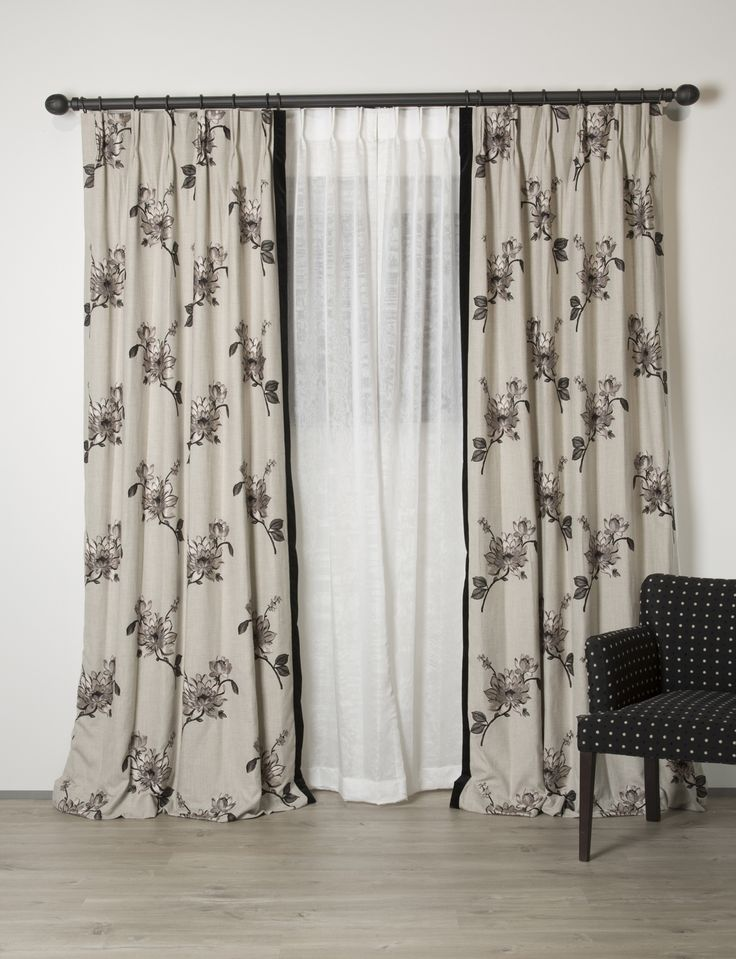 """Exquisitely made curtains in fabric called """"Nantucket"""".  www.lahood.co.nz"""