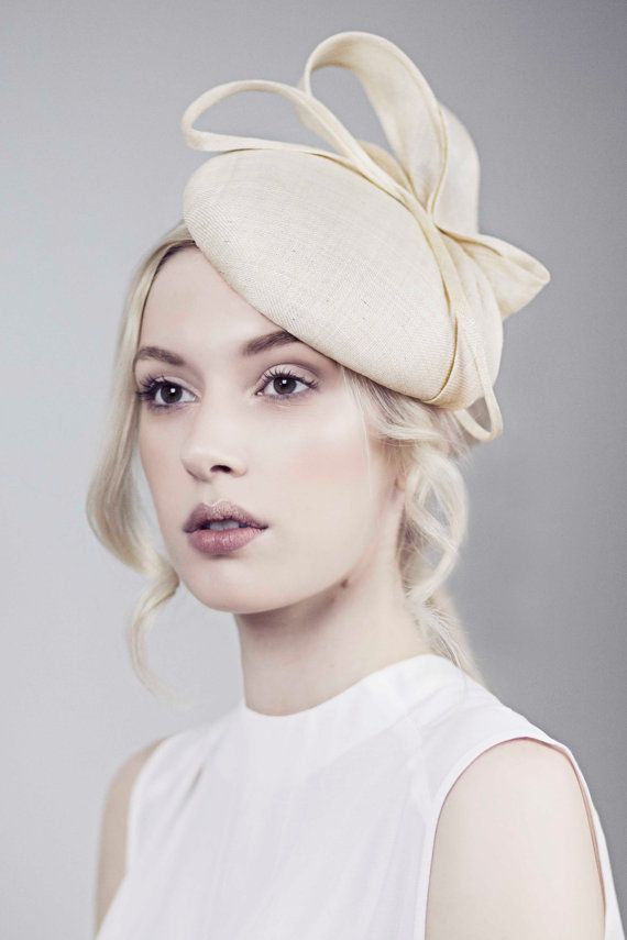 Races Hat, Occasion Hat, Natural Headpiece, Wedding Millinery, Spring Summer 2016 - Song