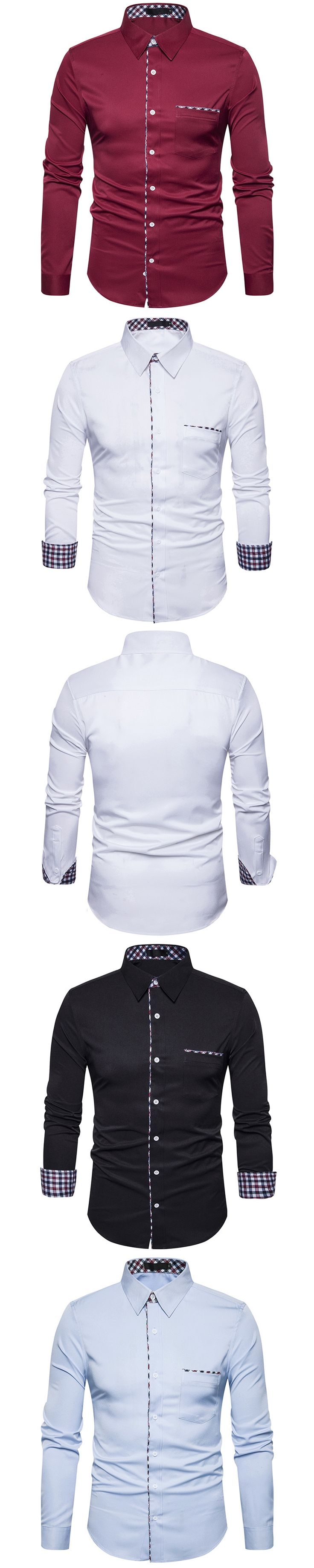 Zeeshant Cotton Tuxedo Shirt Men Formal Solid Color Chemise Homme Cufflink Wedding Shirts in Men's Tuxedo Shirt XXL