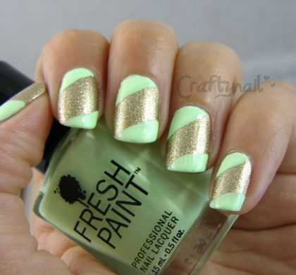 #31DC2013 Green Nail Art