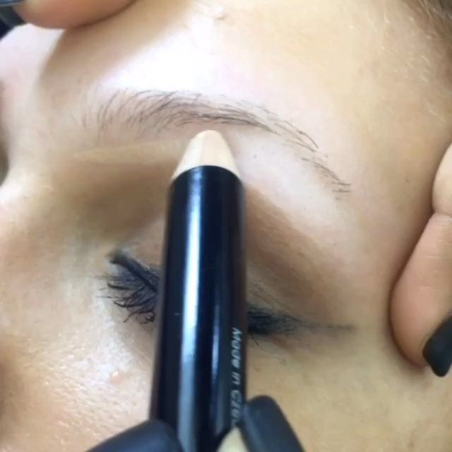 """THIN BLONDE BROWS You all have been asking for a while now, to see """"thin, sparse, blonde eyebrows"""" tutorial So here it is! This beauty has little to NO brows & with my Amazing KBB #threebee I was able to create a beautiful thin, but fuller looking brow✨ #browsbycass"""