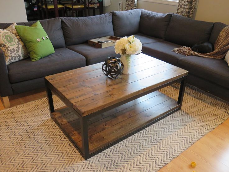 Industrial coffee table do it yourself home projects from ana white things i have to make Do it yourself coffee table