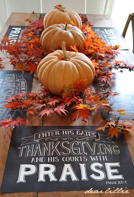 Dear Lillie: Chalkboard Placemats for Thanksgiving