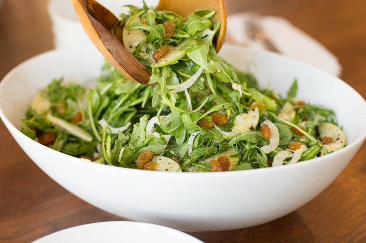 Granny Smith and Fennel Arugula Salad, a beautiful, delicious, seasonal salad. It's a perfect way to add a fresh touch to all those winter, comfort meals!