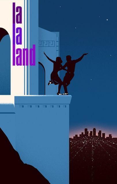 "La La Land 2016 Movie Emma Stone Ryan Gosling Art Poster 13x20"" 24x36"" 32x48"" #9"