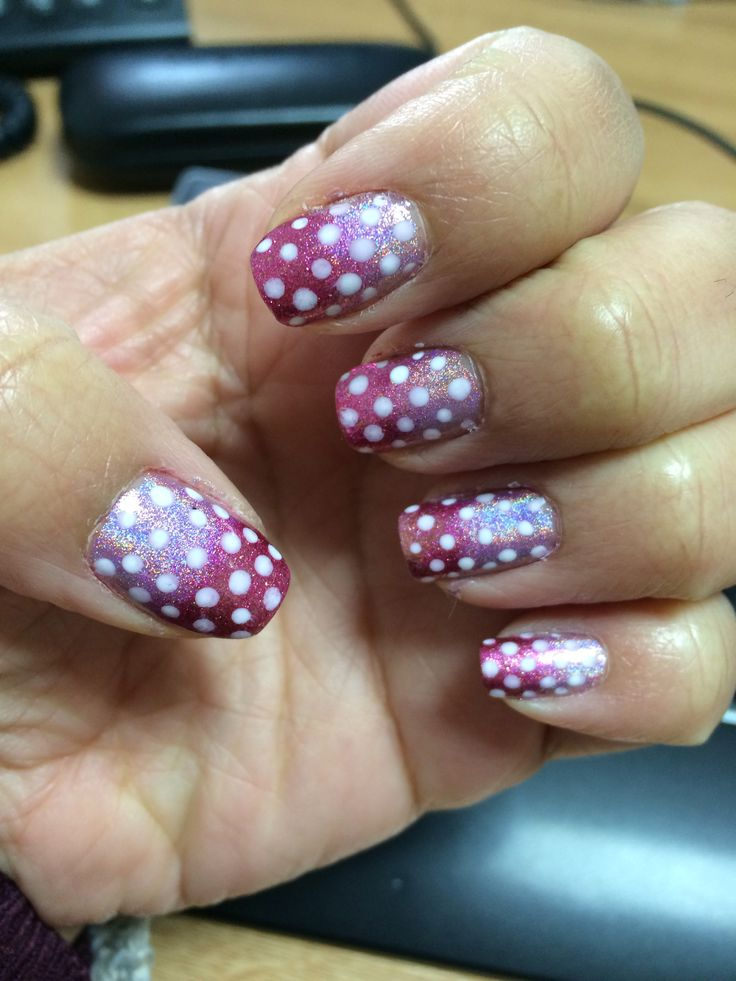 Ombre Nails with Polka Dots! My Favourite to Date!