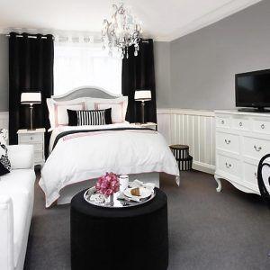 Black White Pink Bedroom