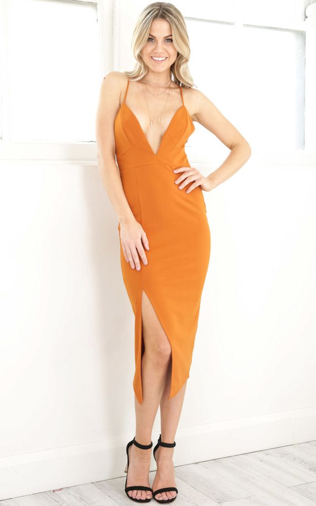 Showpo Same Old Mistakes dress in orange - 6 (XS) Occasion Dresses