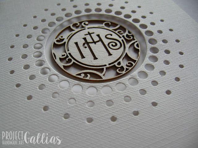 ProjectGallias: #projectgallias, kartka z okazji komunii świętej, komunia, hostia, biały, clean&simple, rękodzieło, handmade, holly communion, card, white