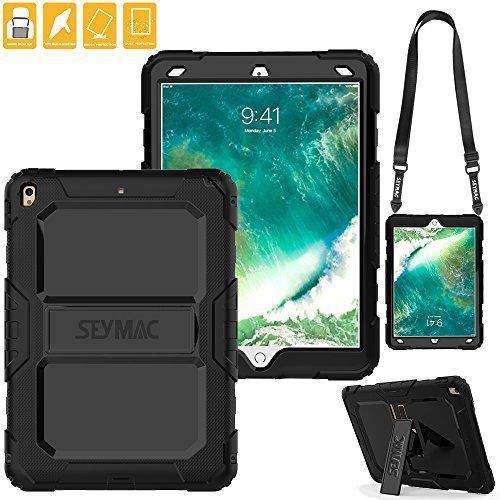 pretty nice ed46b bba9e iPad Pro 10.5 Case, SEYMAC Three Layer Heavy Duty [Strap] Soft ...