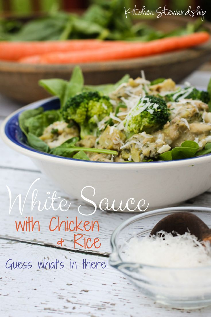 Chicken and Rice with White Sauce Recipe (Gluten-Free and High Protein ...