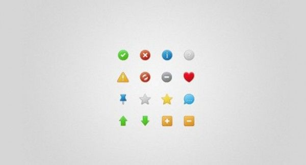 16 Sweet Status Icons Set PSD - http://www.dawnbrushes.com/16-sweet-status-icons-set-psd/