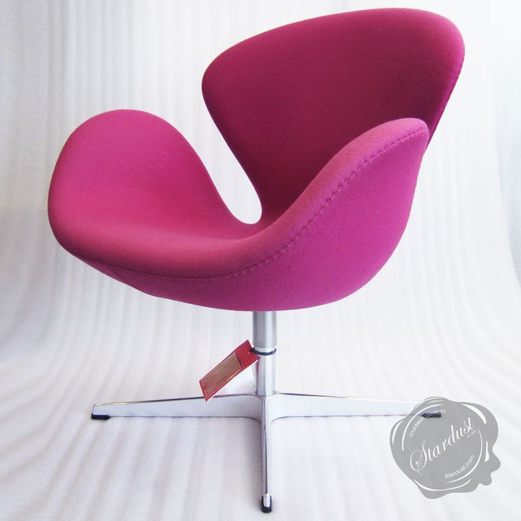 Glamorous Pink Colored Arne Jacobsen Swan Chair With Chromed Steel Base 29 Egg Shaped Chairs To Spruce Up Your Living Room Egg Shaped Chair For Kids Vintage Egg: Egg Shaped Chairs To Spruce Up Your Living Room