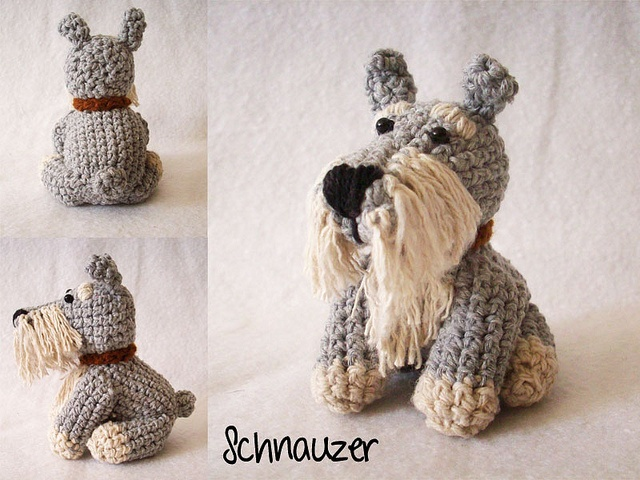 Crocheted Schnauzer by Diana Perozo