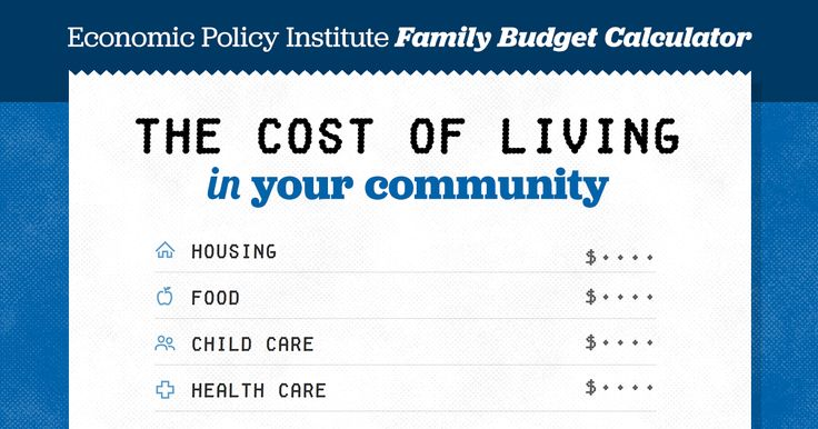 Share Tweet EPI's Family Budget Calculator measures the income a family needs in order to attain a secure yet modest standard of living. The budgets estimate community-specific costs for 10 family types (one or two adults with zero to four children) in 618 locations. Compared with the federal poverty line and Supplemental Poverty Measure, EPI's family …