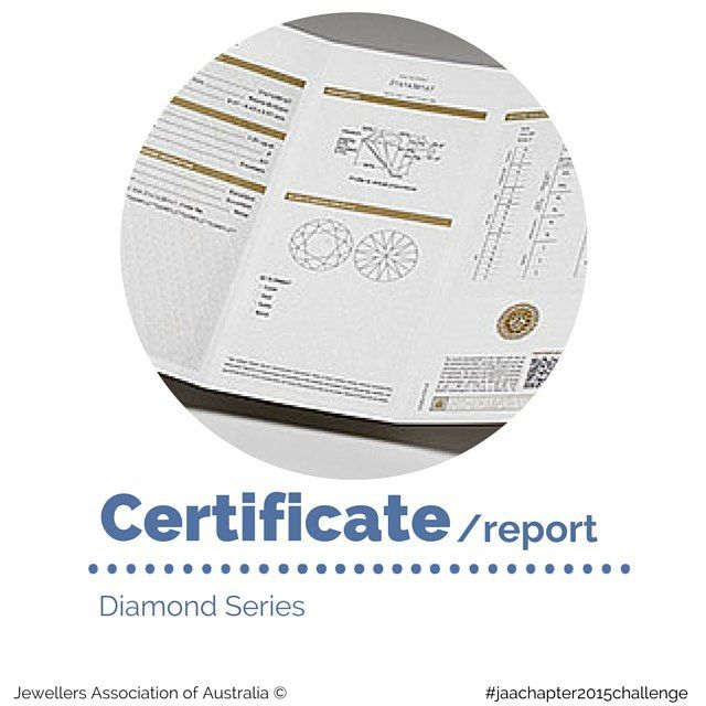 Diamonds certificates (or reports) intend to quantitatively and qualitatively describe a diamond's unique characteristics. A grading certificate/report should include a statement that the diamond is a natural diamond; a report number; accurate carat weight; shape and measurements; colour and fluorescence grade; clarity grade; cut grade (may not be applicable on fancy shapes); plot to show where inclusions are located and the types of inclusion; and... Read more at jaa.com.au