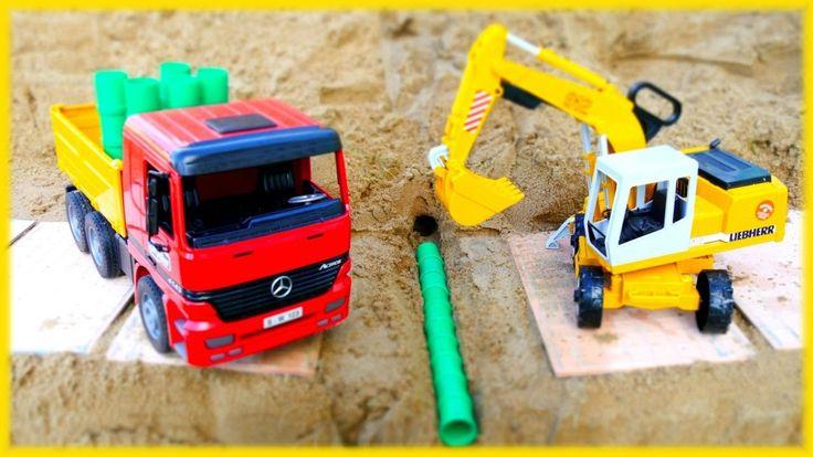 #МАШИНКИ Игры для мальчиков: ЧИНИМ ГОРНУЮ ДОРОГУ! Игры в песке
