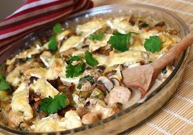Шустрый повар.: Куриное филе с грибами и сливками.