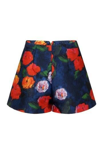 Floral Print Shorts With Wide Cut Leg - US$15.95 -YOINS