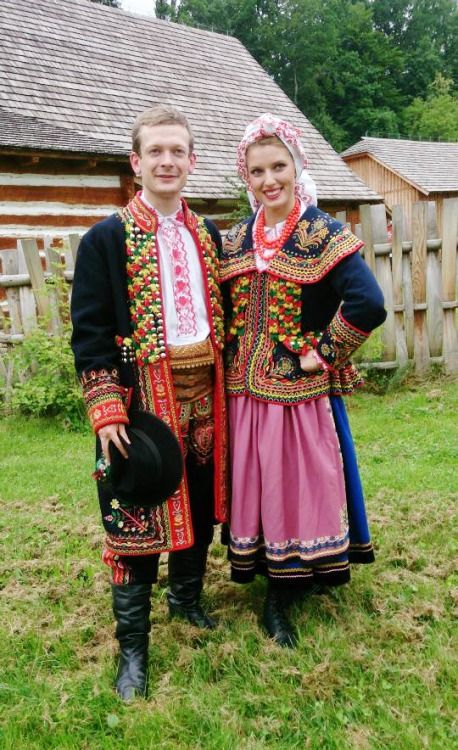 Regional costumes of Lachy Sądeckie, Poland