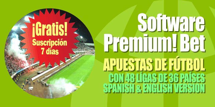 #Software #apuestas #fútbol #pronósticos #bets. Decenas de ligas. Premium! Bet: 7 DÍAS SUSCRIPCIÓN GRATUITA: http://www.losmillones.com/software/apuestas.html