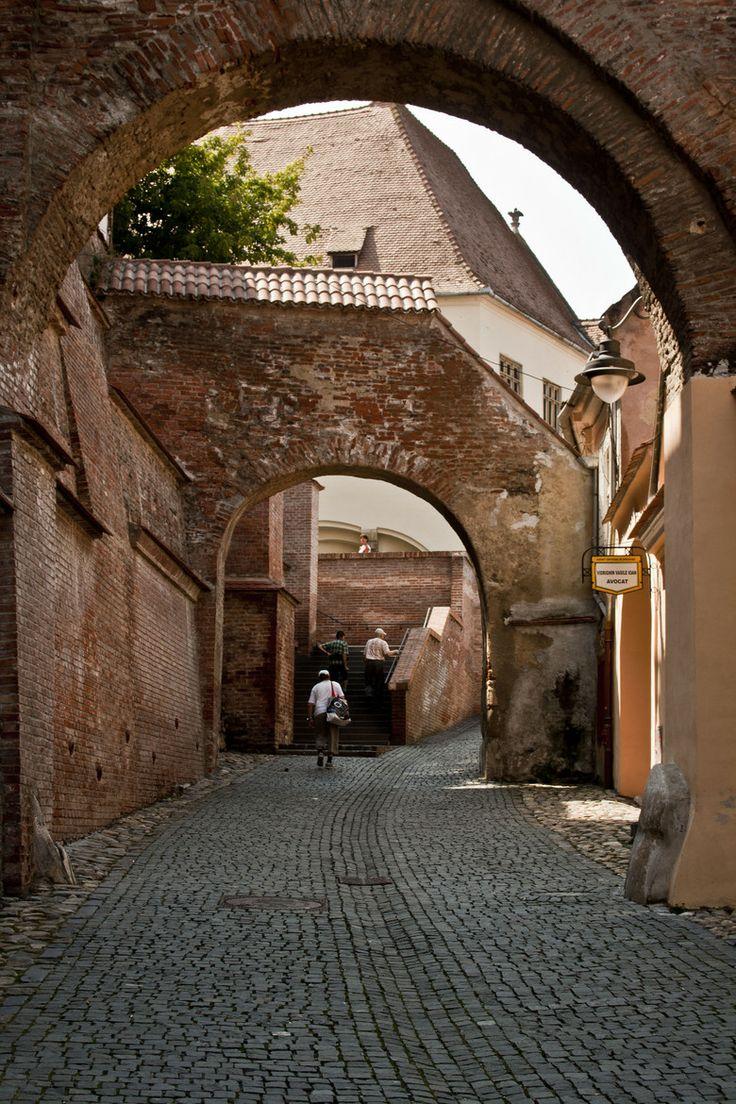SIBIU, ROMANIA Medieval Fortress Wall