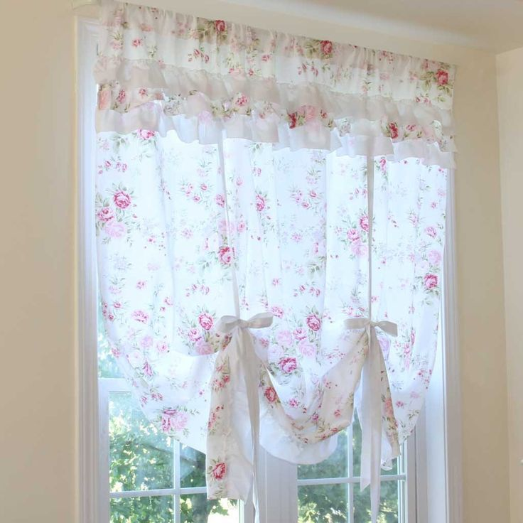 White Rose Romance Pull Up Curtain